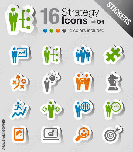 Stickers - Business strategy and management icons