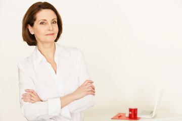 Businessfrau am Arbeitsplatz