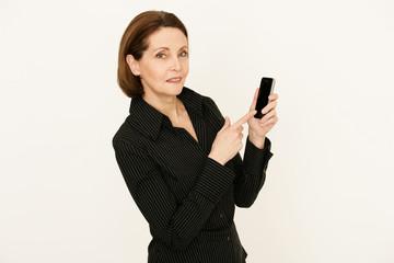 Businessfrau mit Smartphone