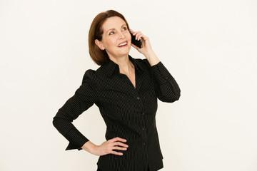 Businessfrau telefoniert