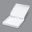white pizza box on grey background