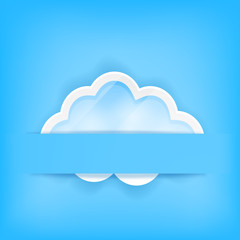 blue background with cloud