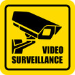 Square video surveillance sign
