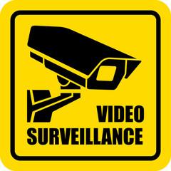 Square video surveillance sign