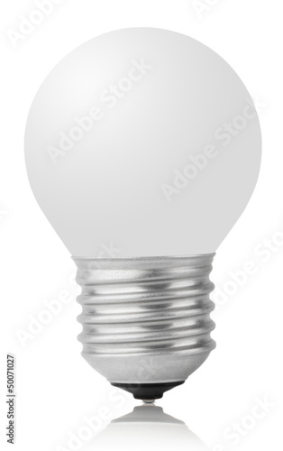 Incandescent lamp isolated on white with clipping path
