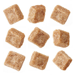 various brown sugar cubes