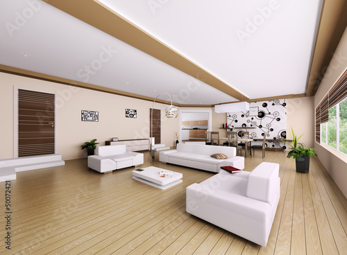 Interior of modern apartment