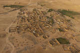 Maroc settlement in the desert near Marrakech aerial view