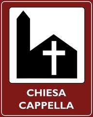 CARTELLO TURISTICO LUOGO DI CULTO