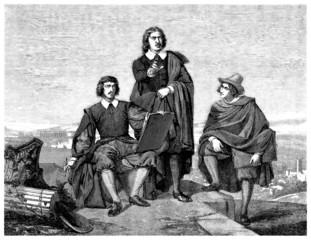 3 Gentlemen - 17th century
