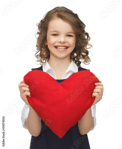 girl with big heart