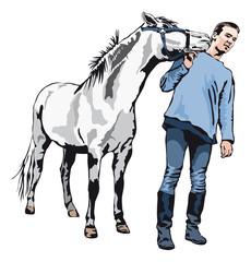 I like you - Pony kissing a young man