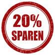 Grunge Stempel rot rund 20% SPAREN