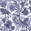 floral blue damask background