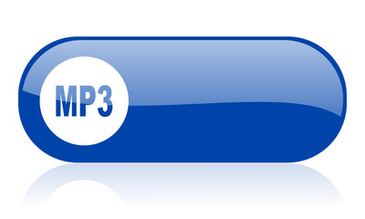 mp3 blue web glossy icon
