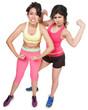 Workout Girls Flexing