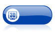 3d display blue web glossy icon