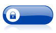 protect blue web glossy icon