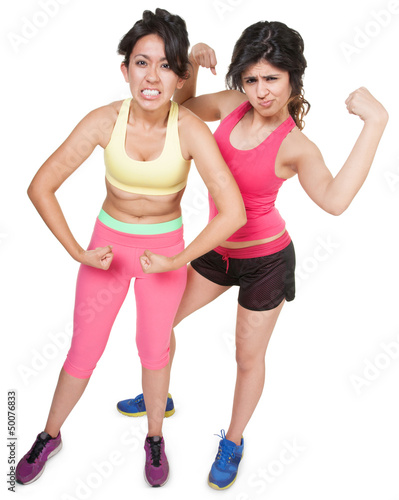 Workout Girls Flexing