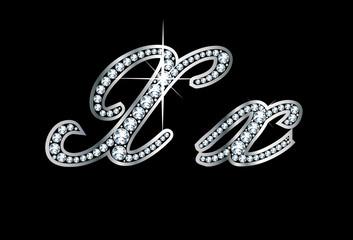 Script Diamond Bling Xx Letters