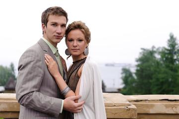 Young beautiful modern couple