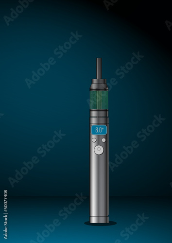Stock Vector illustration of  Vaping equipment