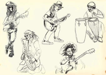 musicians collection - hand drawings