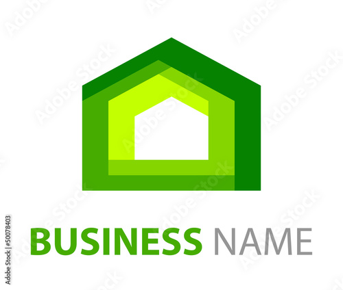 Green House Logo Abstract