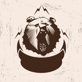 Bear logo , vector illustration