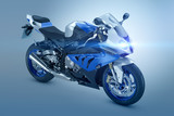 Blue Sport Motorcycle