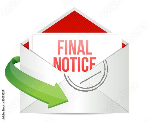 final notice envelope mail correspondence