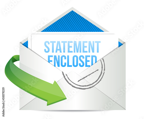 statement enclosed envelope mail correspondence