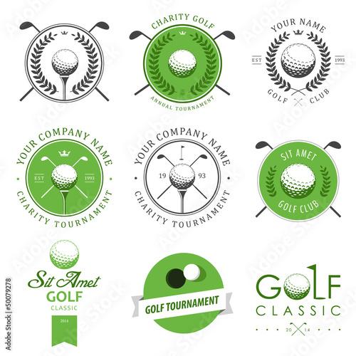 Fototapeta Set of golf club labels and emblems