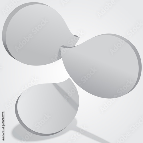Abstract 3D EPS10 cloud shaped tiles