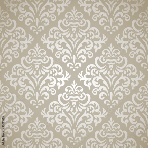 obraz PCV Damask seamless pattern