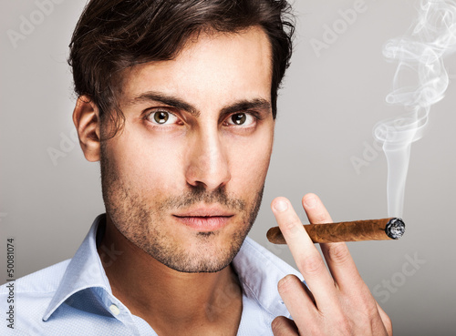 Man smiking a cigar