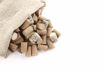 Sisal sack and corks