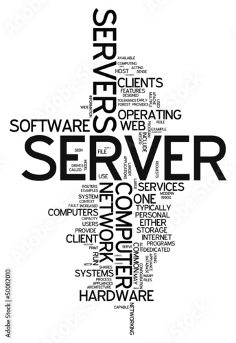 "Word Cloud ""Server"""