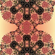Oosterse mandala motief