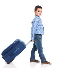 Little boy with suitcase