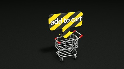 Add to Cart concept animation.