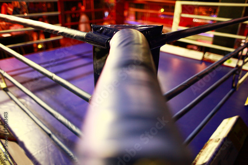 Empty boxing ring abstraction