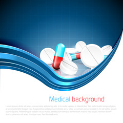 Medical background with copyspace