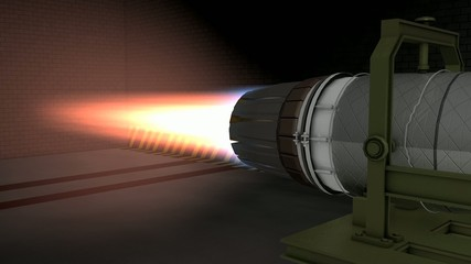Jet engine test fired.