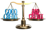 Good or bad credit scales balance choice