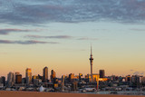 Auckland City sunset from the Harbour Bridge