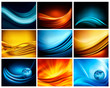 Big set of business elegant colorful abstract backgrounds. Vecto