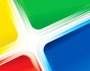 Abstract cross stripes colorful technology background.