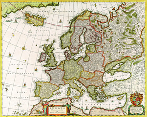 Europe old map 1640