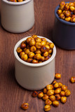 Chickpeas in jars